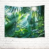 Tropisches Palmblatt grün Bild drucken Wandbehang Tapisserie Strand Tisch Tuch Tuch Wohnaccessoire 150 Breite x 100 Höhe cm