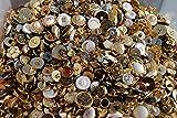 Knöpfe zum Nähen und Basteln, verschiedene metallische Farben und Größen, 100g, plastik, gold