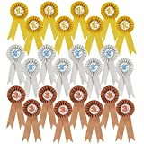 24-Pack–Lazos de participación decoraciones, Premio roseta cintas, 1st, 2nd, y 3rd place premios de reconocimiento de las abejas de ortografía, ciencia ferias, talento muestra, oro, plata, bronce