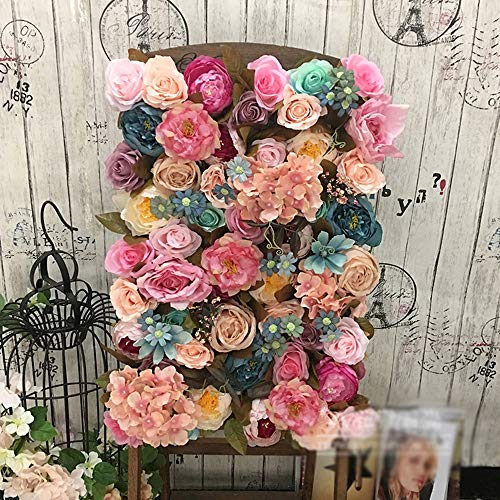 LVZAIXI Mauer Blume Rose Blumendekoration Liebhaber Portraits Hintergrund Foto Studio  Requisiten 60x40cm / 50x50cm Party Hochzeit (Color : D, Size : 50x50cm) Portrait Panel
