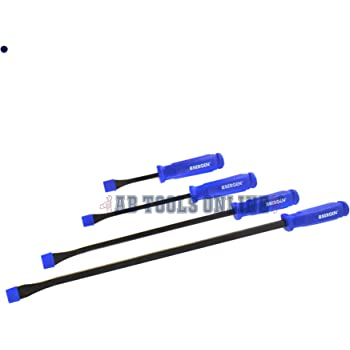 600mm By Bergen 4pc Go-Thru Wrecking Pry Bar Set Lever Crow Bars 200mm
