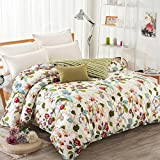 Puro algodón solo duvet cover/Otoño e invierno algodón edredón individual/ cómodo y respirable edredón-D 150x210cm(59x83inch)