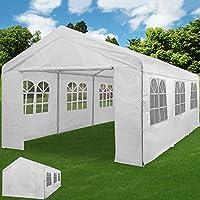 Zelt Partyzelt 6x4m Pavillon Festzelt Carport Bierzelt Gartenzelt Familienzelt Carport 12 Rundbogenfenster 24m² Modellauswahl