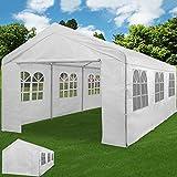 Deuba® Partyzelt 6x4m Pavillon Festzelt Carport Bierzelt Gartenzelt Familienzelt Zelt ✔ 12 Rundbogenfenster ✔ 24m² ✔ Modellauswahl