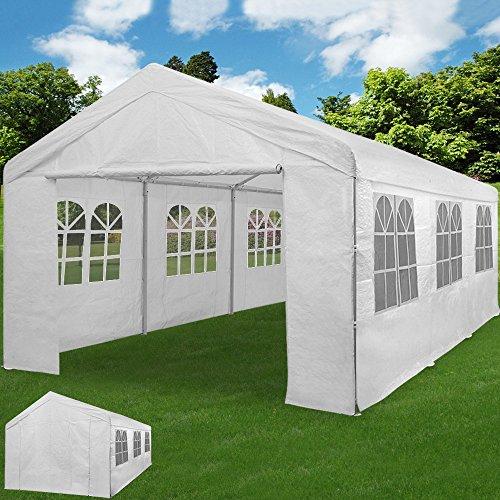 Deuba Partyzelt 6x4m Pavillon Festzelt Carport Bierzelt Gartenzelt Familienzelt Zelt  12...