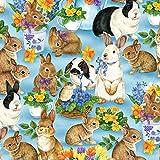 Wilmington Ostern Kaninchen –, Ostern Kaninchen, Stoff