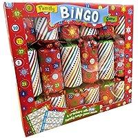 Giftmaker Collection 6 Bingo Christmas Crackers Family Fun Party Game