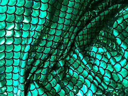 Groß 1/5,1cm Mermaid Waage Stoff 4Wege Stretch Spandex 147,3cm Verkauft von der Yard 1 Yard ()