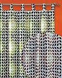 heimtexland Gardine Retro Schlaufenschal Blickdicht HxB 260x140 cm Kürzbar - 60er Sixties - 70er Seventies - schwere Qualität schöner Fall - Vintage Vorhang …auspacken, aufhängen, fertig! Typ250