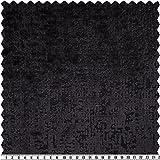 Samt-Ausbrenner, uni, schwarz, 150 cm breit, Meterware