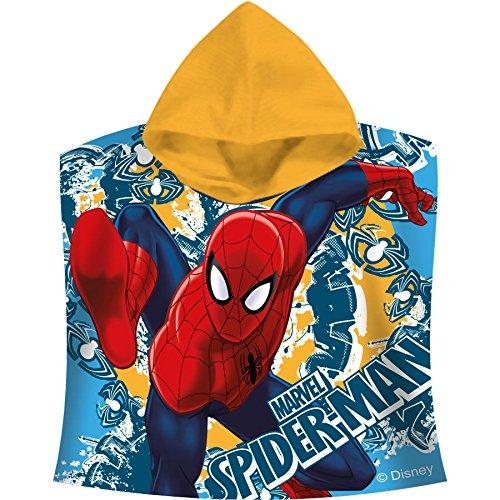 Spiderman Poncho Kapuzenbadetuch 60x120 cm (mv15074)