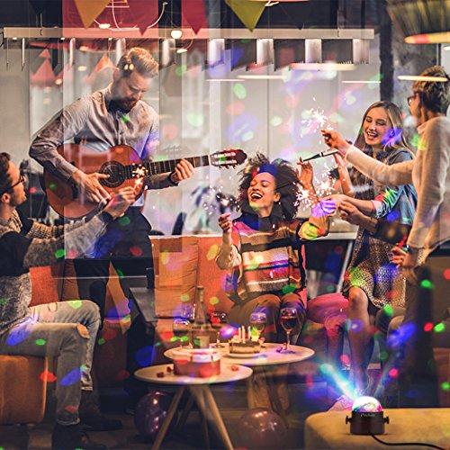 Discokugel LED Party Lampe Musikgesteuert Techole Disco Lichteffekte
