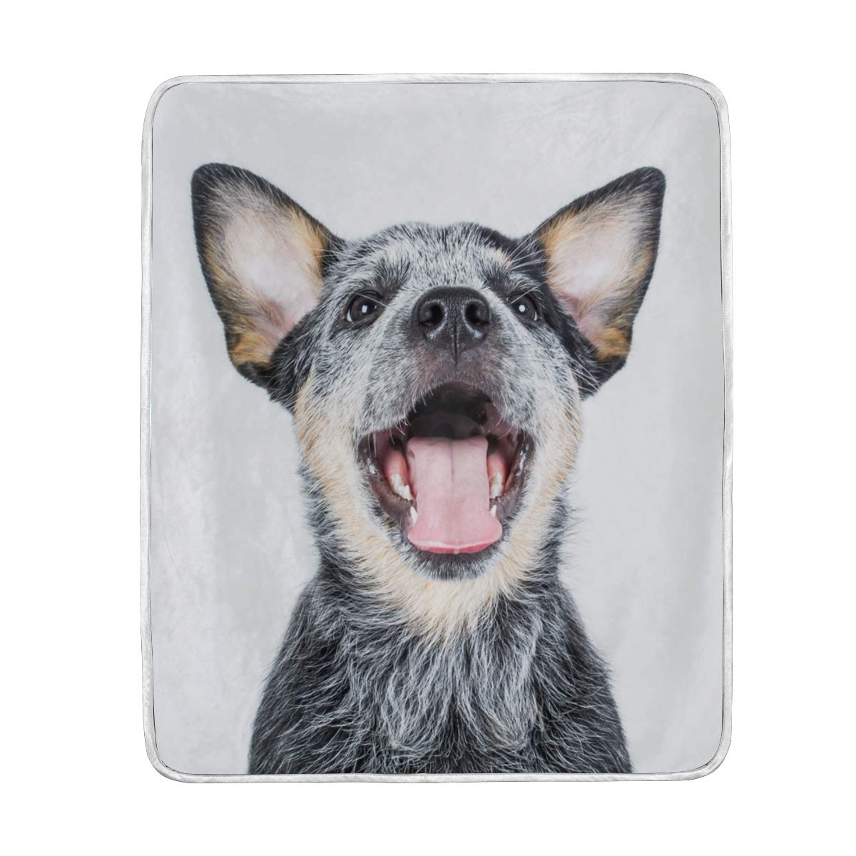 Orediy Soft Throw Blankets Australian Cattle Dog Large Warm Cozy Microfiber Bed Blankets for Couch Sofa 127 x 152 CM