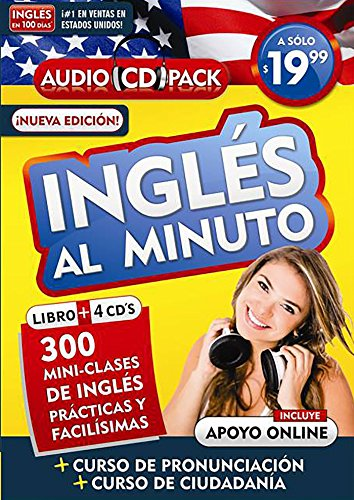 Inglés En 100 Días - Inglés Al Minuto - Audio Pack (Libro + 4 CD's Audio) / English in 100 Days - English in a Minute Audio Pack por Aguilar