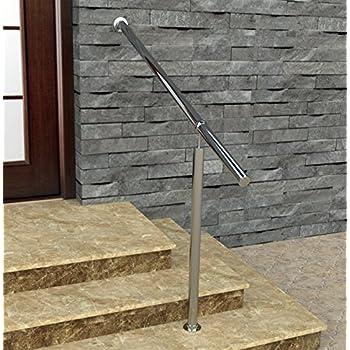 gel nder edelstahl au en innen komplett set treppengel nder bodenmontage bausatz. Black Bedroom Furniture Sets. Home Design Ideas