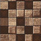 New Generation of Floor Mat Terra Mat Bodenbelag Badvorleger Karos Braun Breite 60cm Länge & Farbe wählbar 60 x 250 cm