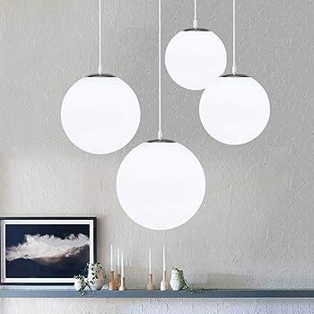 AUA Lustre boule en verre, Lampe suspension, Lampe intérieur simple pour  Chambre Salon Couloir 2e8d47a431fd
