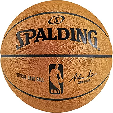 Spalding NBA Game Ball Replica Basketball, Orange, 7
