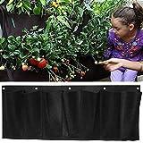 MEIWO 7 Pocket Hängende horizontale Garten-Wand-Pflanzer für Yard Garden Home Decoration