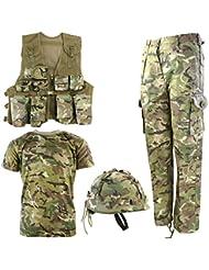 Kombat UK, set militare coordinato per bambini Btp, set militare n° 1., Bambino, BTP No1, British Terrain Pattern, 7-8 anni