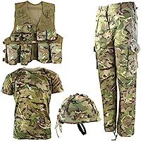 Kombat UK, set militare coordinato per bambini Btp, set militare n° 1., Bambino, BTP No1, British Terrain Pattern, 11-12 anni