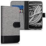 kwmobile Motorola Moto E4 Plus Hülle - Kunstleder Wallet Case für Motorola Moto E4 Plus mit Kartenfächern und Stand