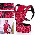 CMYKZONE Baby Carrier Breathable Soft Ergonomic Baby Sling with Protective Hood Storage Pocket Adjustable Shoulder Straps Front and Back Carrier for Infant Toddler (Red) from CMYKZONE