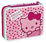 Giochi Preziosi - Hello Kitty Astuccio Maxi con Colori, Pennarelli ed Accessori Scuola
