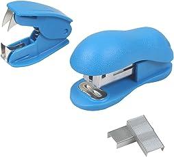 TREELY Mini Staplers Combo, Including Stapler Remover and 2 Strips, Random Color
