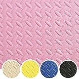 Glamexx24 XXL Fitnessmatte Schutzmatte Bodenmatten Gymnastikmatte EXTRA-dick und weich, isolierende Bodenschutz Matte für Gymnastik und Yoga Sport Rosa