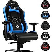 KLIM Esports Gaming Stuhl + Mit Lenden- und Nackenstütze + Verstellbar Gaming Sessel + Ergonomisch PC Stuhl + Kunstleder…