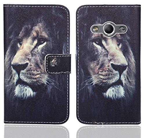 Preisvergleich Produktbild Samsung Galaxy Xcover 3 Handy Tasche, FoneExpert® Wallet Case Flip Cover Hüllen Etui Ledertasche Lederhülle Premium Schutzhülle für Samsung Galaxy Xcover 3 (Pattern 4)
