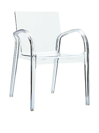 Acrylic Plexiglas Ghost Chair CHAIR Ghost Chair Armchair Transparent,  Plastic, Crystal Clear, 82