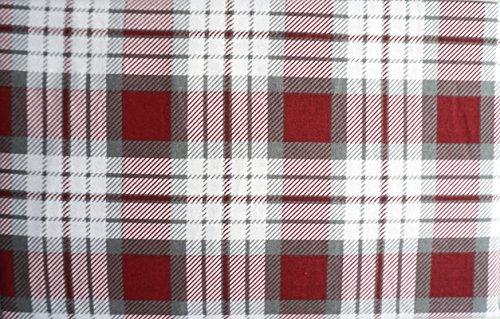 Land Twin-size-bett (Well Dressed Home Aspen & Pine 3Stück Türkische Baumwolle Flanell-Bettlaken-Set Grau Rot Weiß Kariert Muster Twin Size --Plaid Cranberry)