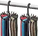 TININNA 2 Pack Krawattenhalter Veranstalter Verstellbare drehende 20 Haken Hals