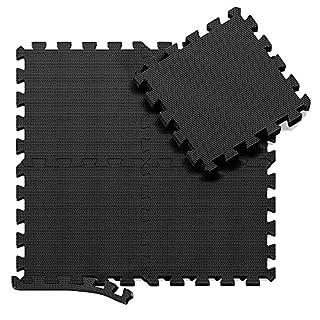 BeMaxx Schutzmatten Set Fitness – 18 Puzzlematten | Bodenschutzmatten | Unterlegmatten | Fitnessmatten für Bodenschutz – Sport, Fitnessraum, Keller – Matten Schutz vor Dellen, Kälte, Flüssigkeit