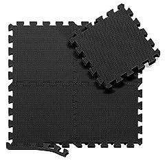Idea Regalo - Tappeto da Fitness a Puzzle - Set di 18 Pezzi | Superficie di Protezione per Pavimenti | materassino per Palestra, Workout, Ginnastica | Tappetino Facile da Pulire | Efficace Contro i liquidi e Urti