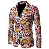 Sannysis Lässiger Blazer Herren Slim Fit Freizeit Causual Tweed Blazer Sakko Business Hochzeit Slim Fit 2 Knopf Kurzmantel