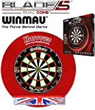 Winmau Blade 5 Dual Core + Harrows Surround red + Abwurflinie