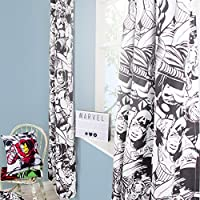Marvel Comics Crop | Childrens Bedroom 72 Inch Curtains | Perfect For Any Boys Bedroom
