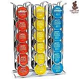 Bakaji Stand Porta Capsule Caffè Dolce Gusto 36 Posti Fisso Inserimento Verticale In Metallo Silver