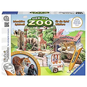 Ravensburger tiptoi Animal Set Rider Hof 00707/Join The Riding Stable and Kümmere You Make Horses