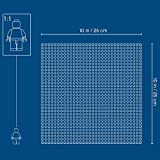 LEGO 10714 Classic Blue Baseplate 10 x 10 Inch/32 x 32 Studs Stackable Building Board, Creations Sheets Builders, Various
