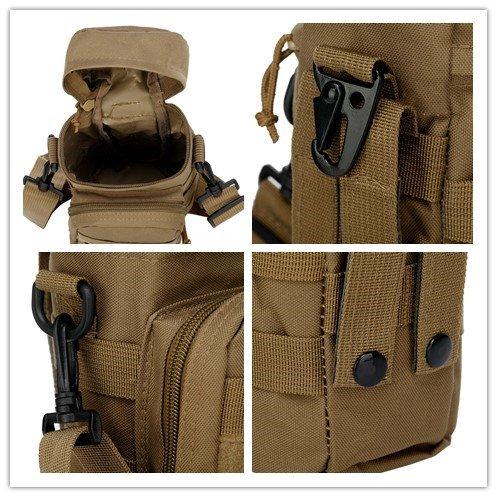 Tactical Molle Outdoor Gear Tasche für Wasserflaschen Kettle Bund Wandern Messager Umhängetasche für Männer-Army-Fans grün - grün
