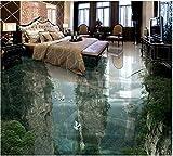 Malilove Berg Wasserdichter Boden Wandmalerei Custom Photo Selbstklebend 3D Stock Home Dekoration 3D Bodenfliesen