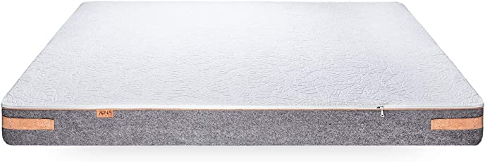 JONA SLEEP Matratze 90x200 cm Latex One-Fits-All 7 Zonen   100 Nächte Probeschlafen   Naturlatex   Zertifizierte Qualität   Abnehmbarer Waschbarer Bezug   Komfort Natur Matratze   10 Jahre Garantie