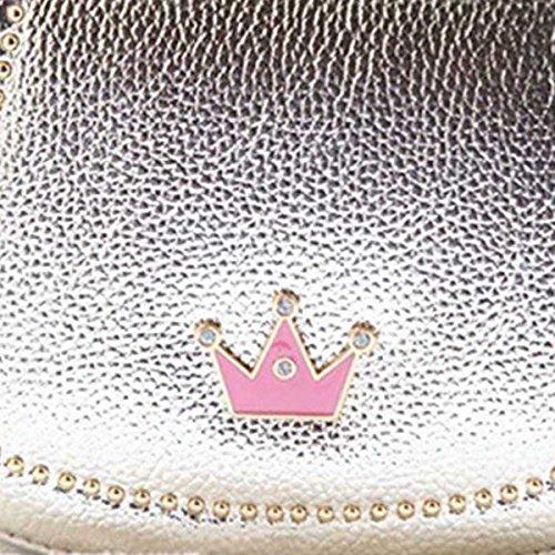 Happy Cherry Kleines Mädchen Tasche Kinder Umhängetasche Mode Frauen Schultertasche PU Leder Handtasche Mit Kaiserkrone Verstellbarer Schultergurt Taschen Kindertasche Girls Bag 16 * 6 * 12cm - Gold Gold