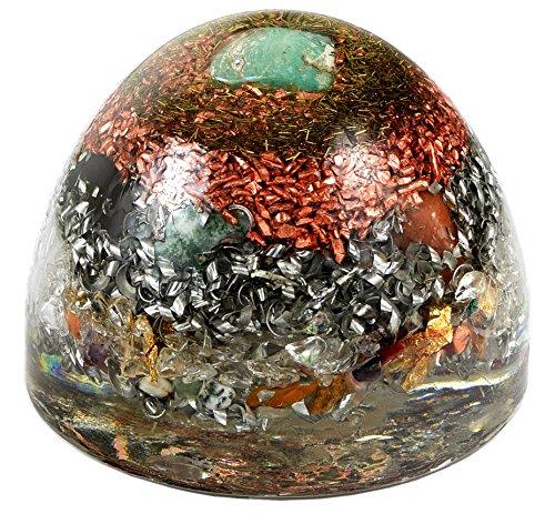 "Agora-Tec Orgonkegel groß ""AMAZONIT"" Durchmesser: 10 cm Höhe: 6,5 cm Orgonit"
