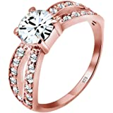 Elli Ring Women Solitaire Glamorous with Crystals in 925 Sterling Silver