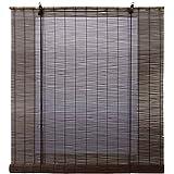Estores Basic-  Enrollable Bambú Natural,  Wengué, 120x170 cm